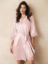 AW Silk Lace Robe