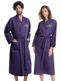 AW His & Hers Pattern Cotton Robe